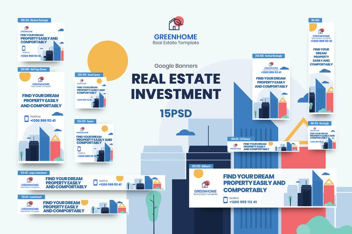 Thumbnail for Real Estate Banners Ad PSD Template