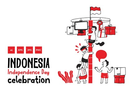 Indonesia Independence Day doodle v.1