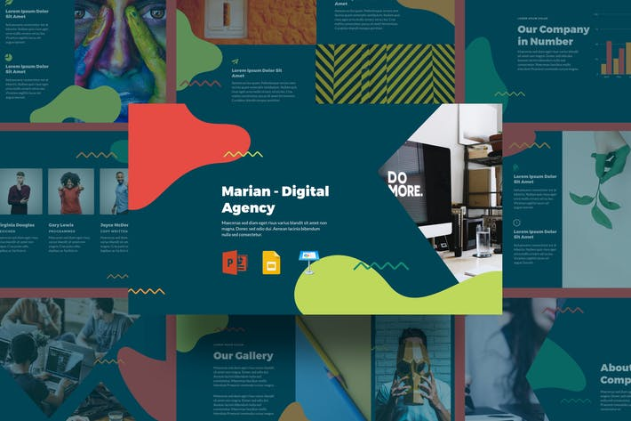 Thumbnail for Marian - Digital Agency Presentation Template