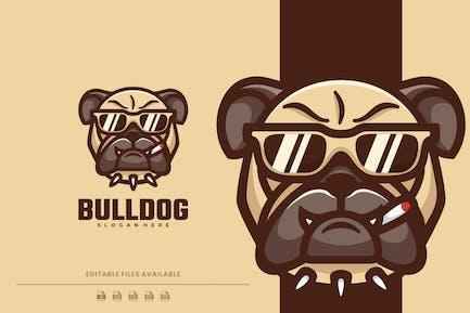 Bulldog Cartoon Character Logo