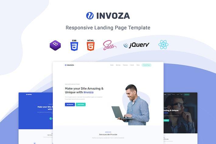 Thumbnail for Invoza - Plantilla de página de destino React
