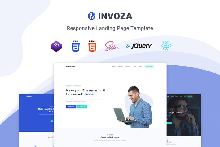 Invoza - React Landing Page Template