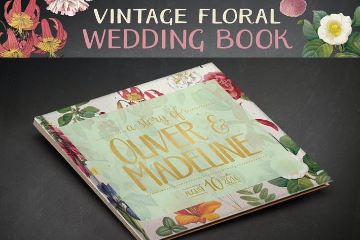 Thumbnail for Vintage Floral Wedding Book