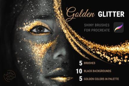 Golden Glitter | Procreate Brushes