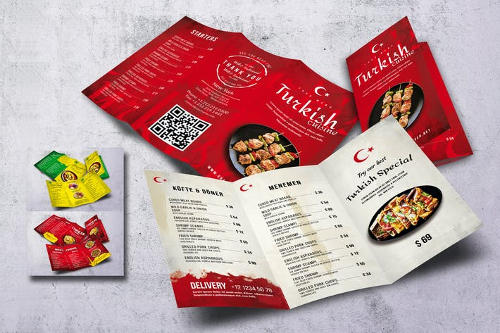 Thumbnail for Different Countries Trifold Menu Bundle