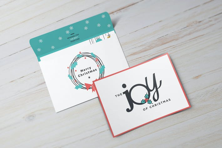 Thumbnail for 10 Types Of Invitation/ Greeting Card Mock-up