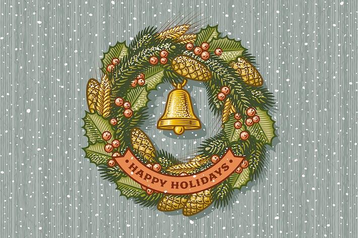 Thumbnail for Retro Christmas Wreath