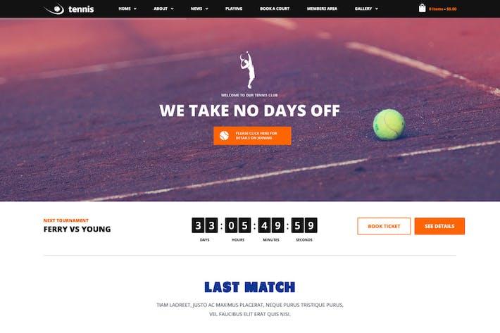 Thumbnail for Tennis - Sport Club & Events WordPress Theme