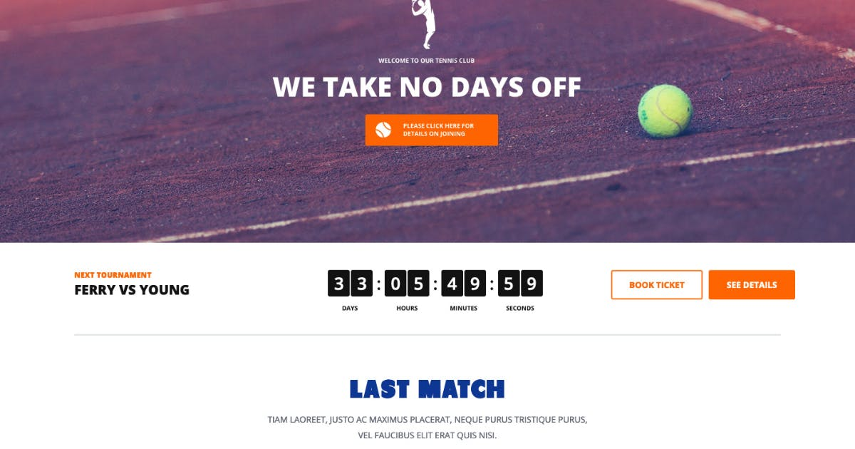 Download Tennis - Sport Club & Events WordPress Theme by axiomthemes
