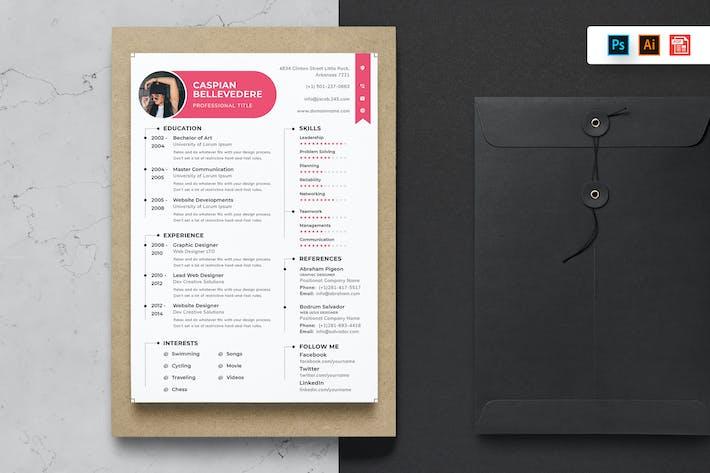 Thumbnail for Resume CV Template-54