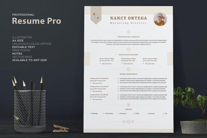 Thumbnail for Professional Female Resume / CV