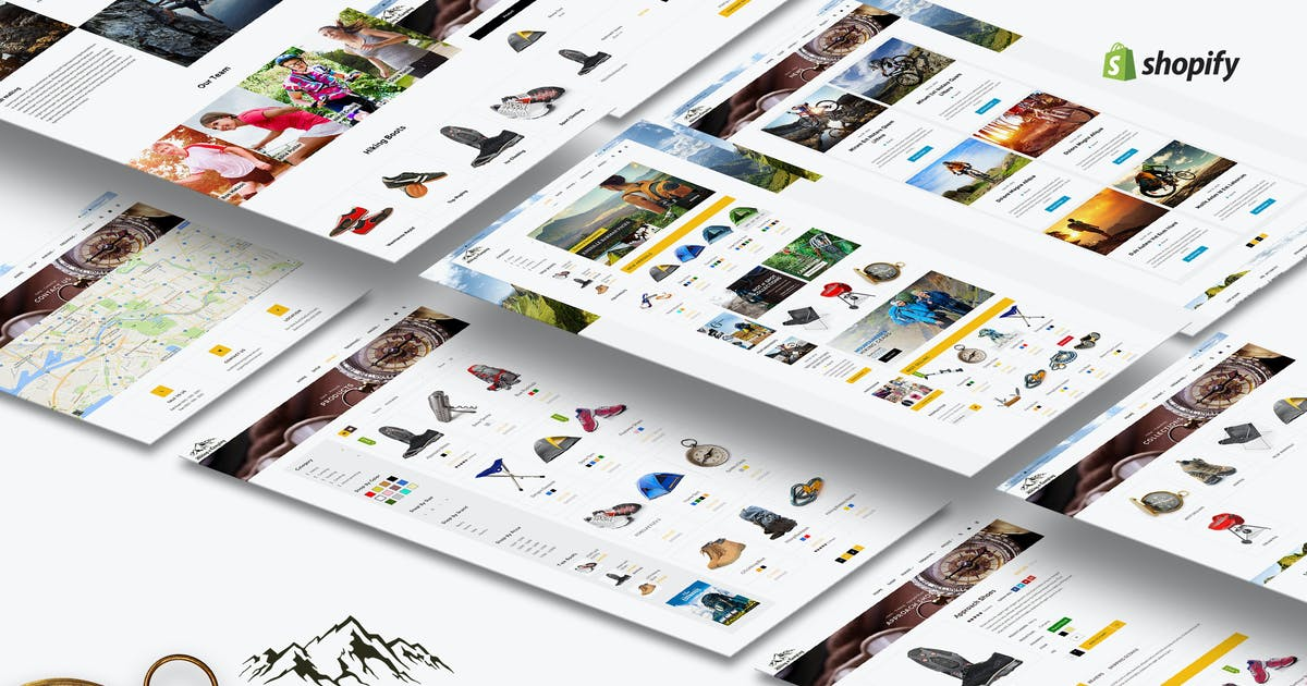 Download Hiking & Camping- Outdoor, Adventure Shopify Theme by BuddhaThemes