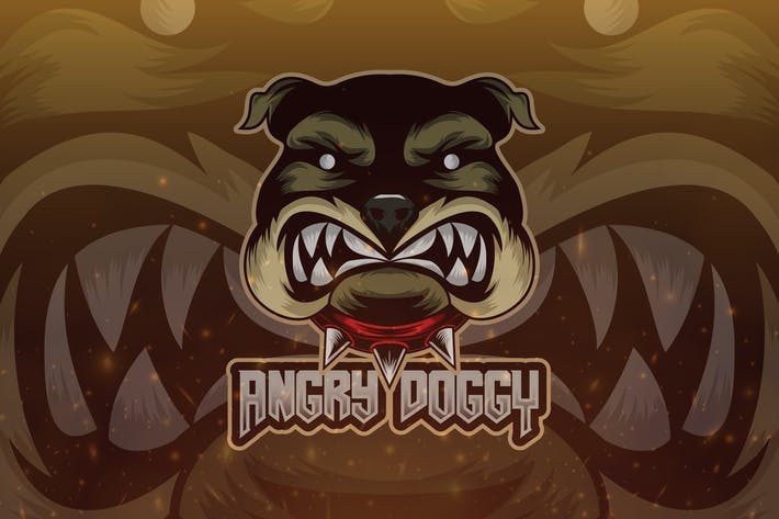 Thumbnail for Angry Doggy Esport Logo Template