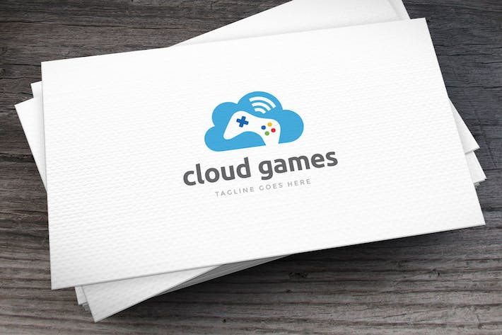 Thumbnail for Cloud Games Logo Template
