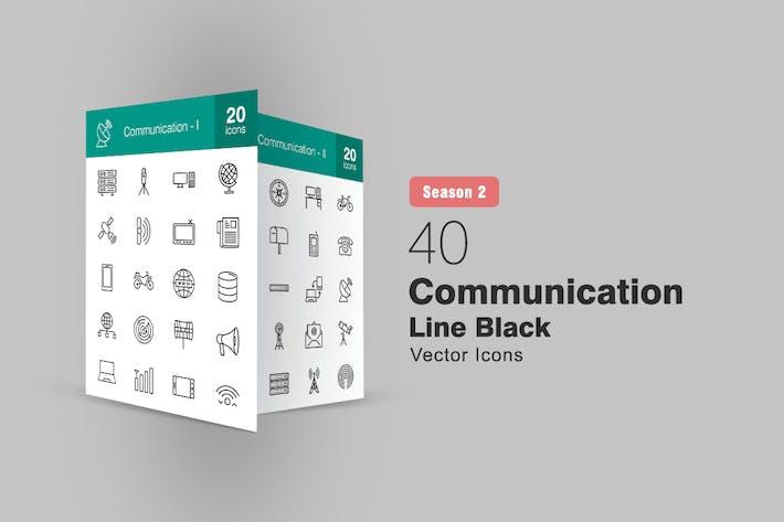 Thumbnail for 40 Communication Line Icons Season II