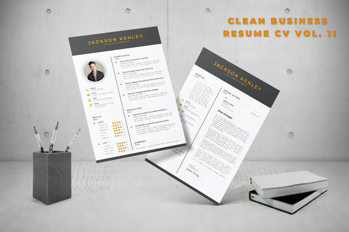 Thumbnail for Clean Business Resume CV Vol. 11
