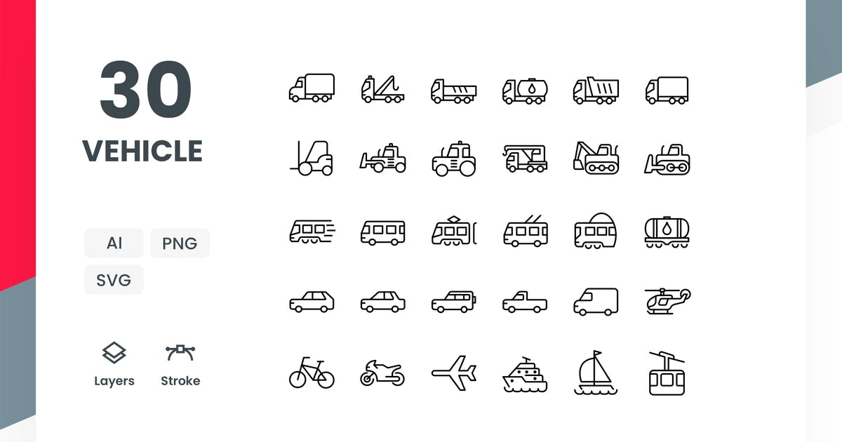 Download Vehicle - Icons Pack by Zomorsky