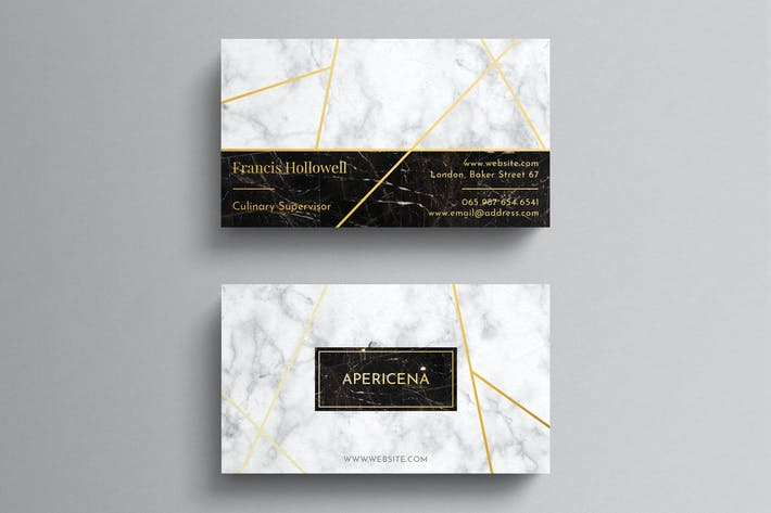 Thumbnail for Elegant business card on marble background
