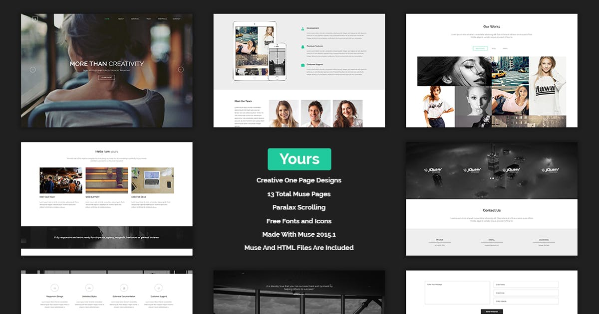 Download Yours - Creative Onepage Adobe Muse Template by Muse-Master