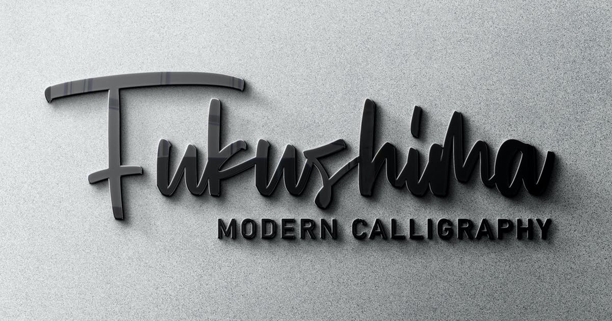Download Fukushima Modern Calligraphy by arendxstudio