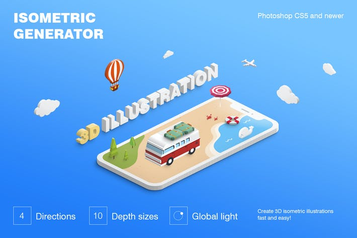 Isometric Map Generator by designhatti on Envato Elements
