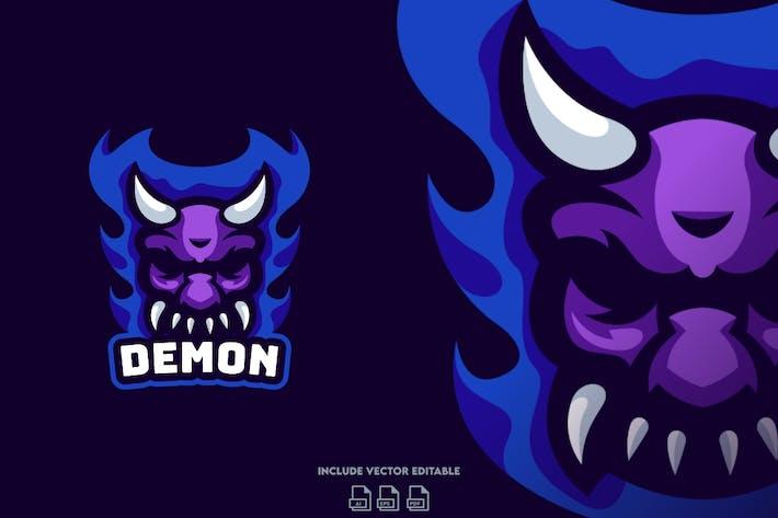 Thumbnail for Demon E-Sport Logo Design Template