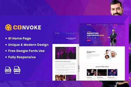 Convoke - Event & Conference HTML5 Template