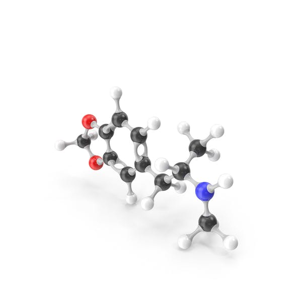 Molekularmodell MDMA
