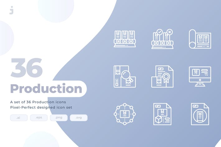 Thumbnail for 36 Production Icons