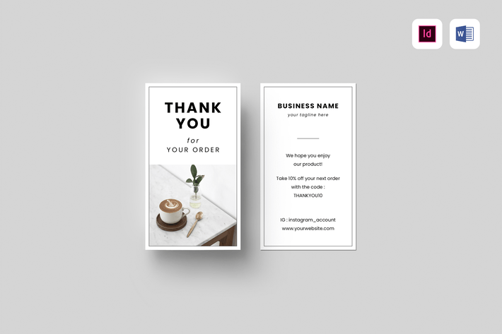 Thumbnail for Business Thank You Card