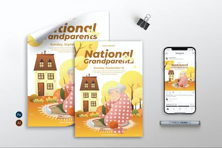 National Grandparents Day - Flyer, Poster & IG AS