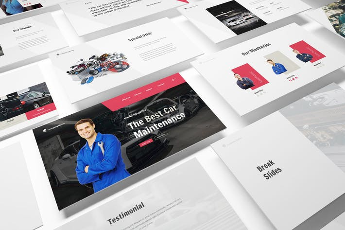 Thumbnail for Car Repair Powerpoint Template