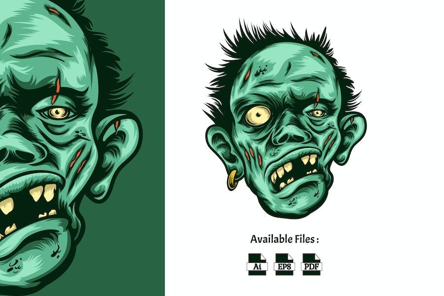 Иллюстрация головы зомби