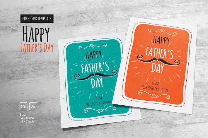Thumbnail for Joyeux Modèle de vœux pour la fête des pères
