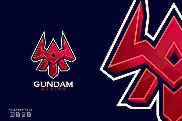 Gundam Gaming Emblem Letter A Esport