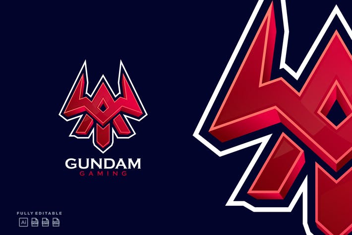 Thumbnail for Gundam Gaming Emblem Letter A Esport