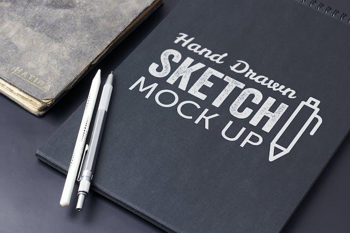 Thumbnail for Sketch Et Dessin Mockup Modèle #8