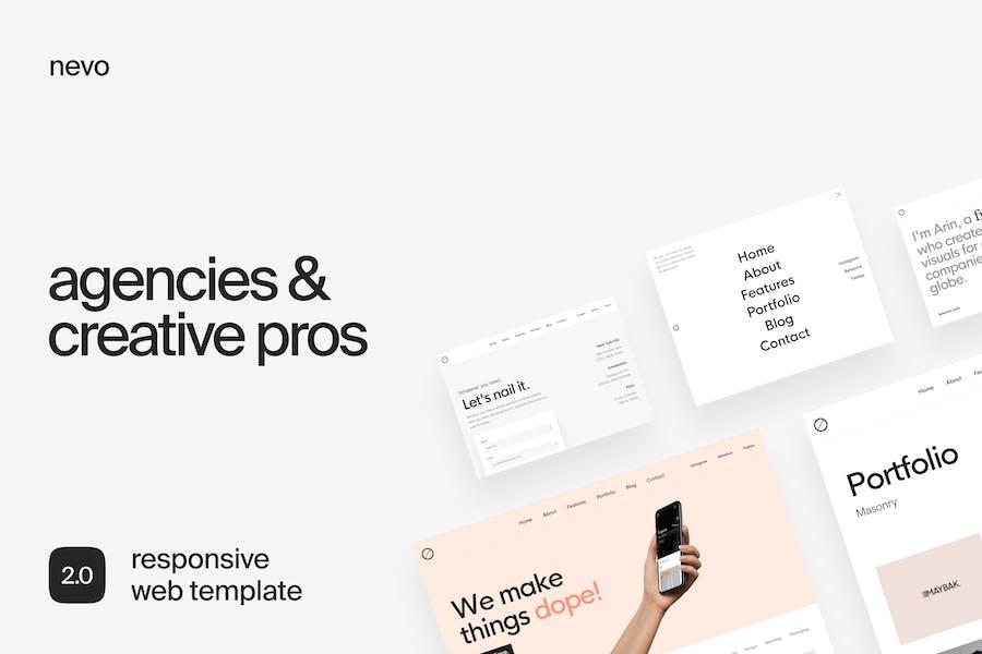Nevo | Agency & Creatives Template