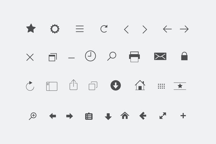 Thumbnail for 32 Browser Interface Icons