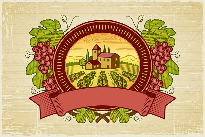 Thumbnail for Grapes Harvest Label