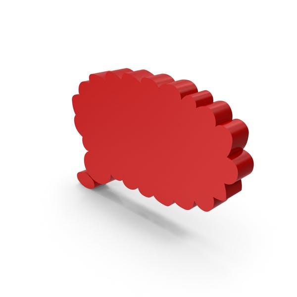 Símbolo de burbuja de pensamiento rojo