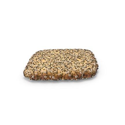 Mini galleta de rehombus con sésamo y semillas de amapola