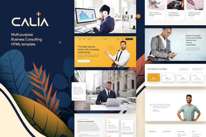 Thumbnail for Calia - Business Consulting HTML Template