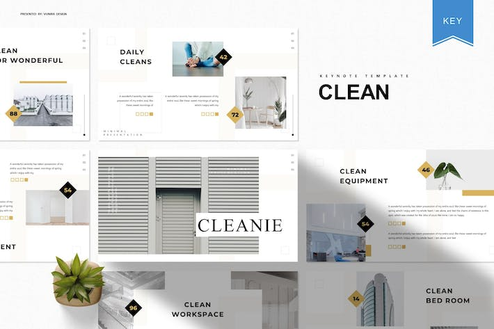 Thumbnail for Clean|Keynote Template