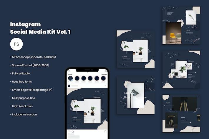 Thumbnail for Instagram Social Media Kit Vol. 01
