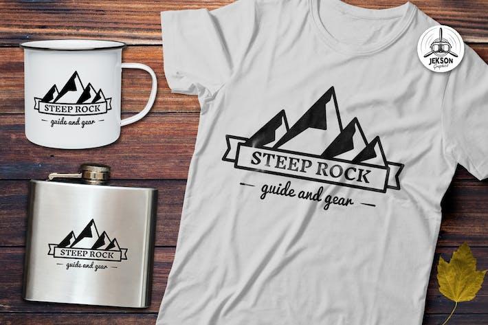 Thumbnail for Mountain Vector Logo, Retro Camping Badge Template