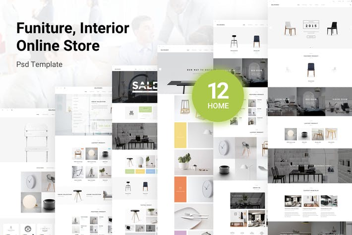 Thumbnail for Delphinus - Funiture, Interior Shop PSD Template