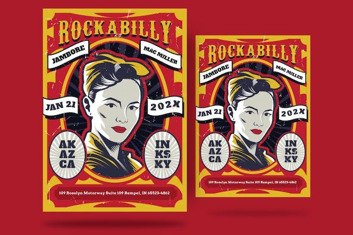 Thumbnail for Rockabilly Concert Flyer