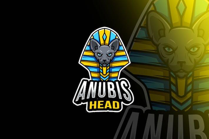 Thumbnail for Anubis Head Esport Logo Template