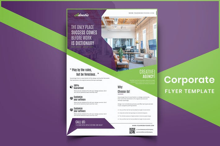 Thumbnail for Corporate Flyer Template-01